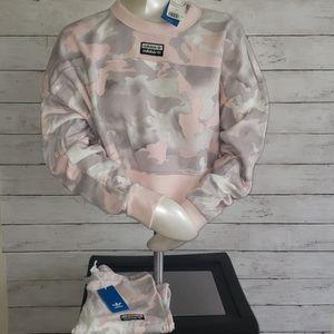 Adidas light pink Camo set